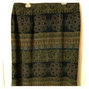 Maggie Mcnauchton beautiful multiprint  long skirt